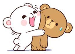 Bear Couple : Milk & Mocha sticker #12265831