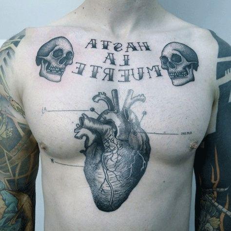 Tatuajes Corazon Pechogif 480480 Cositas Pinterest