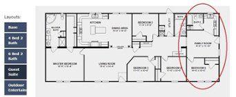 Double Wide 2 Master Suites Floor Plan Mobile Home Floor Plans Manufactured Homes Floor Plans Modular Home Floor Plans