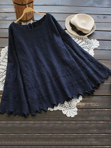 Embroidered Flare Sleeve Shirts