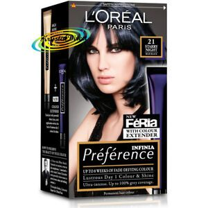 Details About Loreal Preference 21 Starry Night Blue Black