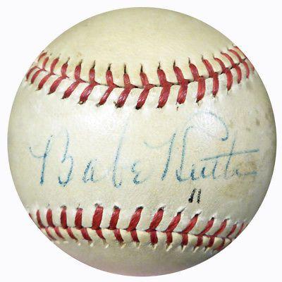 Babe Ruth Autographed Signed Al Harridge Baseball New York Yankees Psa M09954 Baberuth Babe Ruth Autograph Babe Ruth Autographed Baseball Babe Ruth