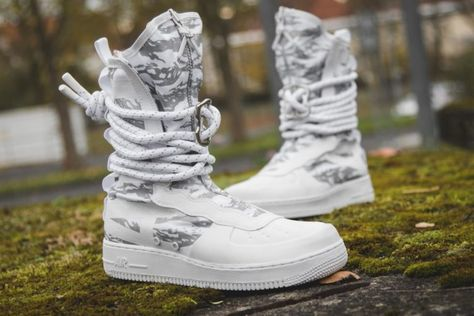 SF Air Force 1 High 'Winter Camo' Nike AA1130 100 | GOAT