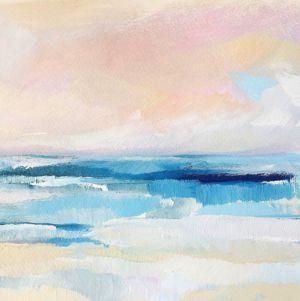 Sherbet Skies Ocean Painting By Megan Elizabeth Of Art By Megan