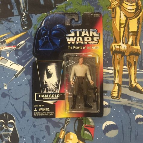 Power of the Force Red Card 3.75 Inches Hasbro Toys 69613 Star Wars Han Solo in Carbonite Action Figure