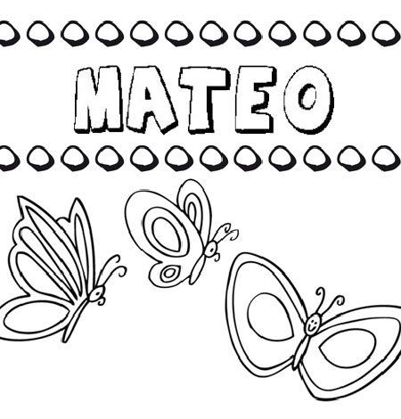 Mateo Dibujos De Los Nombres Para Colorear Pintar E Imprimir Imagenes De Nombres Imprimir Sobres Significados De Los Nombres