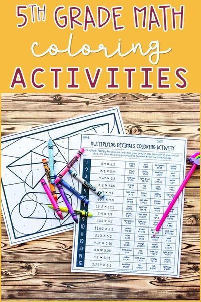 5th Grade Math Practice Coloring Activities BUNDLE Color Activities, Math  Coloring, Middle School Math Worksheets