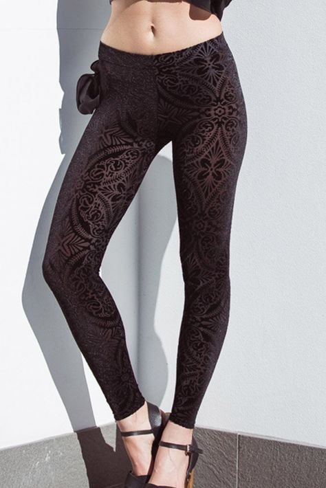 Burned Velvet HW Leggings BM | Velvet leggings, Black milk
