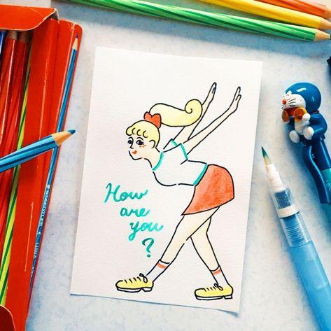 onatsu おなつ onatsu moga instagram写真と動画 色鉛筆 水彩 絵