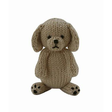 Puppy Knitting Pattern By Knitables Animal Knitting Patterns