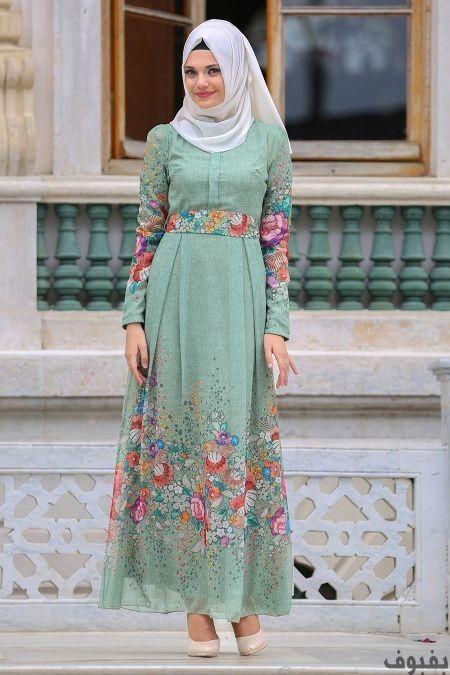 فساتين خروج للمحجبات أجمل فساتين خروج للمحجبات موضة 2020 بفبوف Muslim Fashion Outfits Hijabi Gowns Hijab Fashion