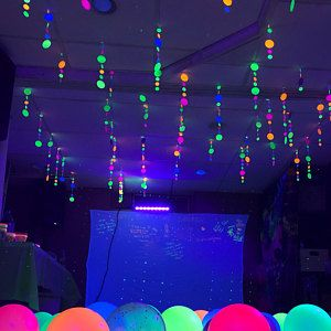 Glow Party Decorations Neon Garlands Black Light Party Etsy In 2021 Glow Birthday Party Glow Stick Party Glow Party Decorations