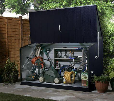 Trimetals Fahrradbox Geratebox Aufbewahrungsbox Storeguard Anthr Mygardenhome Gartenbox Fahrradbox Aufbewahrung Garten