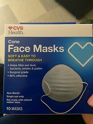 Ad Ebay Url Cvs Health Cone Face Masks 10 Count Earloop