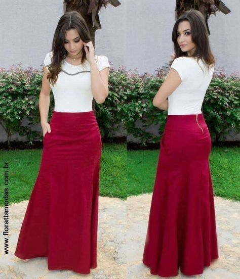 Moda Femenina Oficina Juvenil 31 Long Skirt Outfits Womens Maternity Dresses Chic Outfits