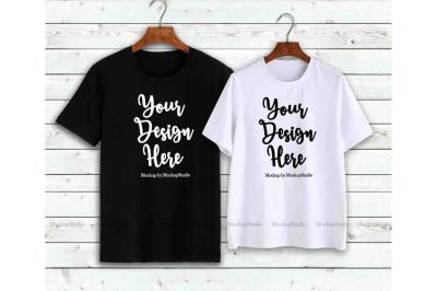 Download Couple T Shirts Mockup Matching Couples Shirts On Hangers Psd Mockup Template In 2020 Shirt Mockup Tshirt Mockup Design Mockup Free