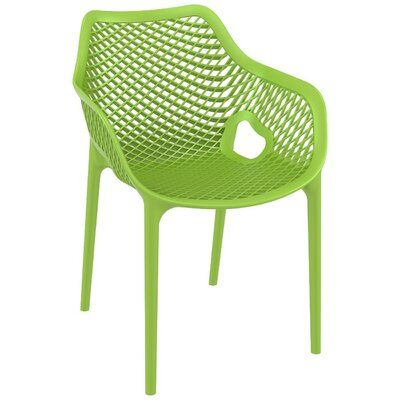 Ravensdale Stacking Patio Dining Chair Set Of 2 Color Tropical Green In 2020 Patio Dining Chairs Outdoor Chairs Dining Arm Chair