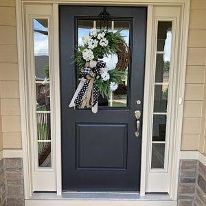 Ice Cream Cone Wreath Door Decoration Spring Summer Decor Etsy In 2020 Front Door Paint Colors Brown Front Doors Black Exterior Doors