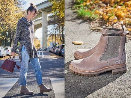 Timberland chelsea boats outfit women