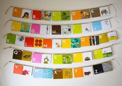 Flashcards + Twine + Bull clips = Simple Artwork