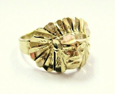 Details About L K Vtg Unique Solid 10k Yellow Gold Ring With Indian Head Sz 2 75 Pinky Child Yellow Gold Rings Yellow Gold Ring Band Gold Rings