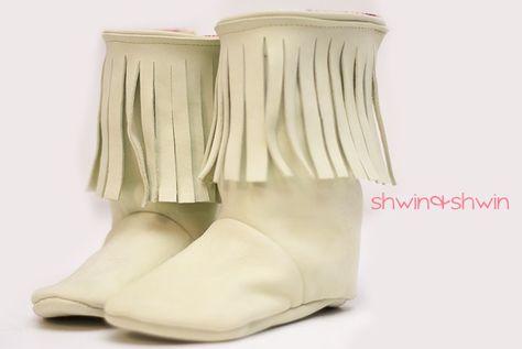 Fringe Baby Boots || Free PDF Pattern || Shwin&Shwin | Baby ...