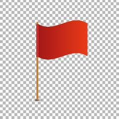 Vector Realistic Isolated Red Flag For Decoration And Covering On The Transparent Background Concept Of Pointer Tag And Red Flag Flag Transparent Background
