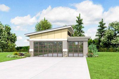 Plan 69618am Contemporary Garage Plan Garage Door Design