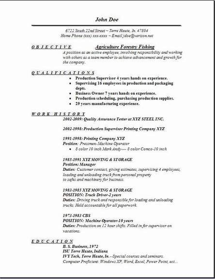 Agriculture Forestry Fishing Resume Occupational Examples Samples Free Edit With Word Security Resume Job Resume Examples Job Resume