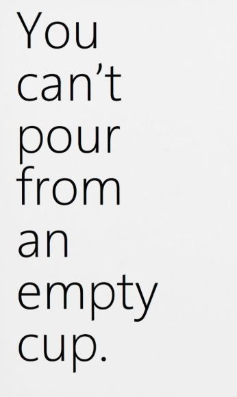 You Can T Pour From An Empty Cup Quote Home Decor Office Decor Typography Print Motiv Home Quotes And Sayings Very Funny Quotes Inspirational Sports Quotes
