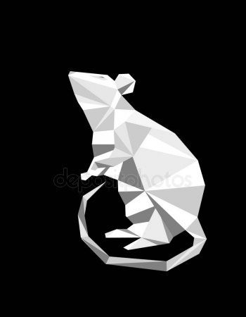 Paper origami collection colored animals shapes ai, eps file ... | 450x350