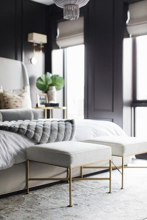 A New Season Means It Is Certainly Time To Revamp Your Bedroom Here We Share Some Great Tips T Grey Bedroom Design Black And Grey Bedroom Contemporary Bedroom