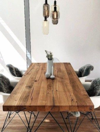 40 Charming Diy Wooden Dining Table Design Ideas For You Zyhomy In 2020 Dining Table Wooden Dining Tables Wooden Dining Table Designs