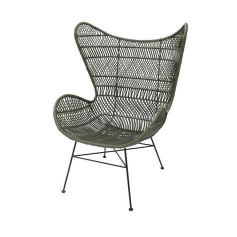 Egg Chair Roze.Stoel Bohemian Olijf Groen Rotan Egg Chair 74x82x110cm Rotan