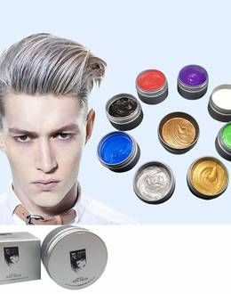 Temporary Hair Color Wax Men Diy Mud One Time Molding Paste Dye Cream Hair Gel For Hair Coloring Styling Silver Grey In 2020 Hair Gel Hair Color Temporary Hair Color