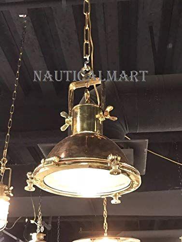 Nauticalmart Nautical Marine Hanging Ceiling Pendant Bras Https Www Amazon Com Dp B07ggxlc2m Ref Cm S Copper Hanging Lights Hanging Lights Copper Lighting