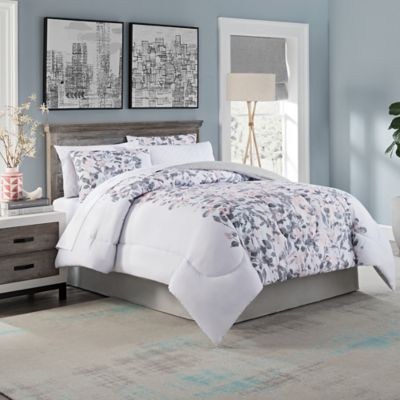 Lydia Watercolor Floral 8 Piece California King Comforter Set In