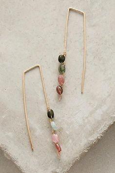 Boho Fashion Multi cristal d/'oreille Drop Dangle Stud Antique Silver Long Boucles D/'Oreilles 284