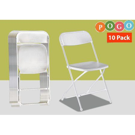 Pogo Poly Plastic Folding Chairs 10 Pack Outdoorweddings Plastic Folding Chairs Folding Chair Outdoor Wedding