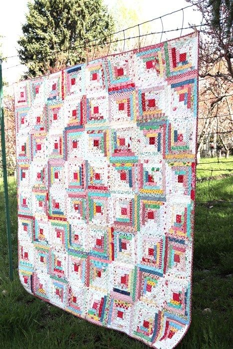 Springtime In The Rockies Feeling Sentimental Diary Of A Quilter A Quilt Blog Quilts Log Cabin Quilts Pretty Quilt