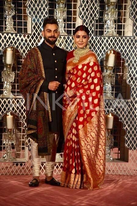 Photos: Anushka Sharma and Virat Kohli look every bit royal at their wedding reception in Delhi | PINKVILLA