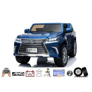 Blue Top Of Line 2 Seater Official 4x4 Lexus Lx570 2x12v Kids Ride On Battery Powered Car Eva Leather Please Note Thi Lexus Lx570 Lexus Battery Powered Car