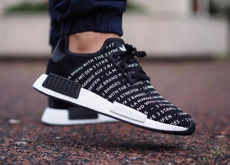 17223463422d8 Adidas NMD R1 Three Stripes Black