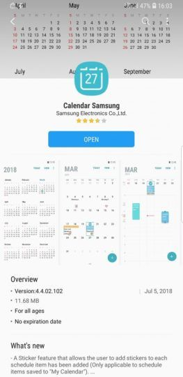 Galaxy S8 And Note 8 Get Stickers In The Samsung Calendar App