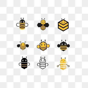 Bee Logo Cartoon Bee Stroke Style Bee Cute Bee Icon Png And Vector Bee Icon Cartoon Bee Adobe Illustrator Graphic Design
