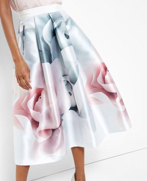 971460aed46d2 Ted Baker Women s Glenis Hanging Gardens Midi Skirt - Baby Pink ...