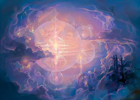 John Pitre's Heaven is an imaginary view of the infinite and eternal worlds where our souls may eventually dwell, free of the challenges of our physical earthly life. Paintbrush Tattoo, Art Students League, Beautiful Fantasy Art, Modern History, Visionary Art, Women In History, Art World, Faeries, Ethereal