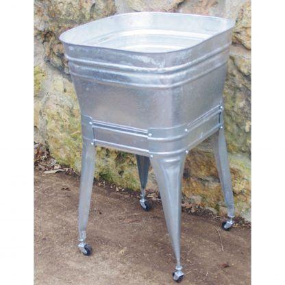 Square Wash Tub With Stand Single Or Double Wash Tubs Galvanized Wash Tub Tub