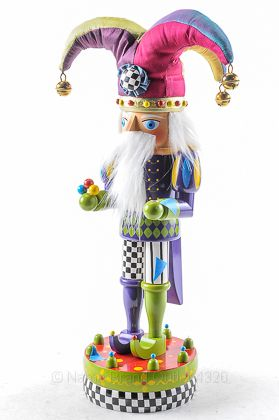 MACKENZIE CHILDS multicolor COURT JESTER NUTCRACKER wooden CHRISTMAS $375 NWD | eBay