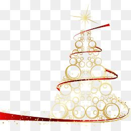 Creative Golden Christmas Tree Clipart Originality